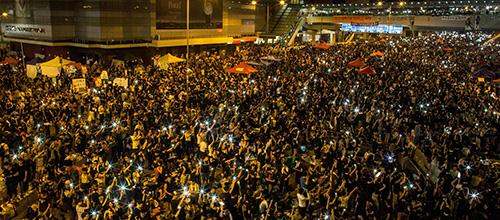 Burgerplein in Hongkong wordt historische plek
